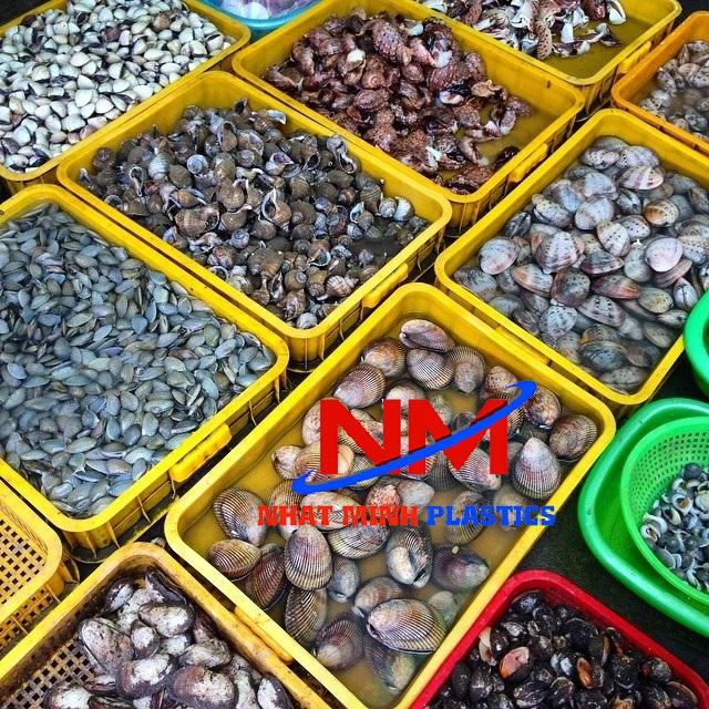Rổ nhựa đựng thủy hải sản