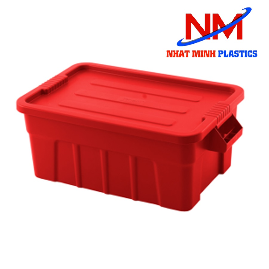 Thùng nhựa b7 có nắp màu đỏ