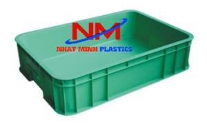 thùng nhựa đặc b7 màu xanh lá