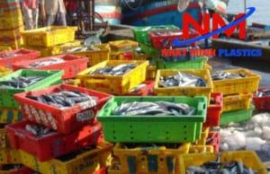 Thùng nhựa đặc có nắp trong công nghiệp thủy hải sản
