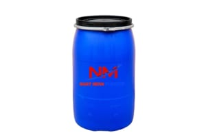 Thùng phi nhựa xanh 120 lít đựng chất phụ gia