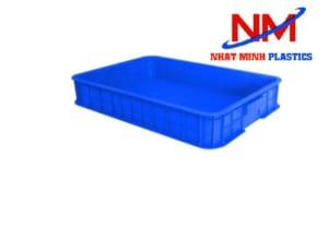 Khay nhựa bít 1T màu xanh dương loại thành cao 10cm