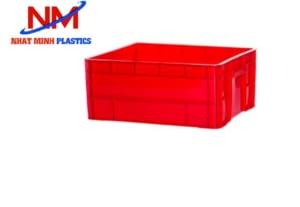 Khay nhựa bít 2T2 màu đỏ có chiều cao 22cm