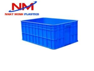 Khay nhựa bit 2T5 hay sóng nhựa bít hai tấc rưỡi màu xanh dương có chiều cao 25cm
