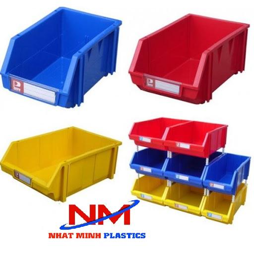 Khay nhựa đựng linh kiện xếp chồng
