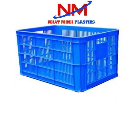 Rổ nhựa rỗng đáy đặc giúp bảo quản đồ không bị lọt dưới đáy