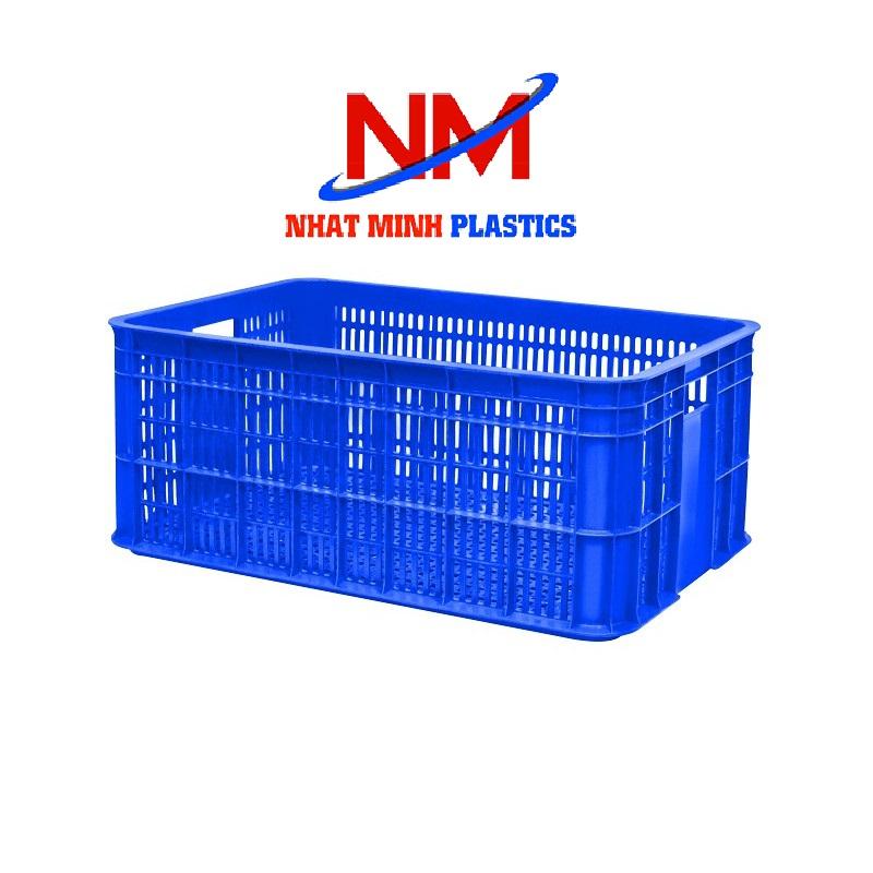 Rổ nhựa đáy hở màu xanh dương là màu chuộng nhất