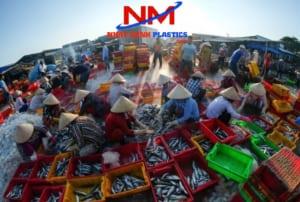 Sóng nhựa hở trong ngành thủy sản chuyên chứa các loại cá biển