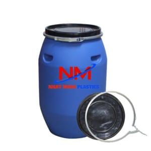 thùng phi nhựa đai sắt nắp hở 250l