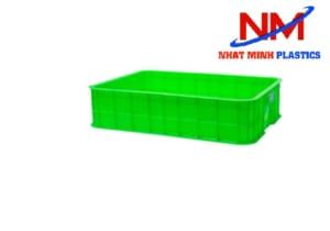 Khay nhựa 1T5 màu xanh lá có chiều cao 15 cm