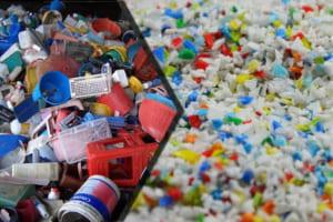 Nhựa tái sinh tái chế từ các loại nhựa tổng hợp
