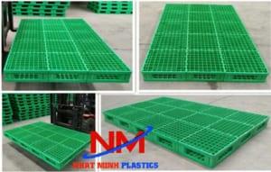 Tấm pallet nhựa lót sàn kích thước 1800 x 600 x 50 mm