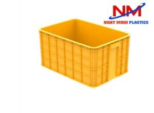 Khay nhựa đặc công nghiệp có thiết kế các đường gân bao quanh giúp tăng độ cứng và khả năng chịu kực cho khay nhựa