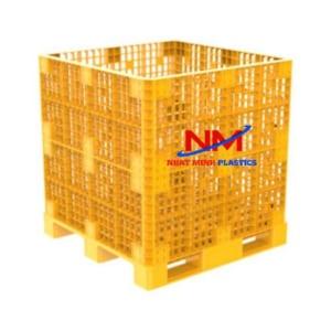 Pallet box 1200 x 1200 x 1250 mm kê hàng lên đến 3 tấn và nâng hàng lên đén 1 tấn/1 lần di chuyển