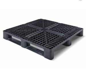 Pallet nhựa PP tái chế - Pallet nhựa một mặt màu đen