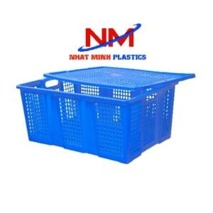 Rổ nhựa-Sóng nhựa hở có nắp đậy có thiết kế chắc chắn,các đường gân sóng được gia cố dày dặn,bền và chịu lực tốt