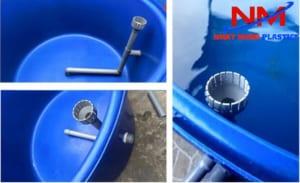 Mua tank nhựa hình tròn nuôi cá Koi phải thiết kế hệ thống lọc lắng để lọc phân cá mỗi ngày