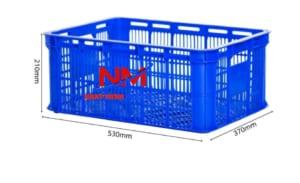 Rổ nhựa công nghiệp từ nhựa nguyên sinh HDPE bền,nhẹ,chắc chắn,dễ di chuyển