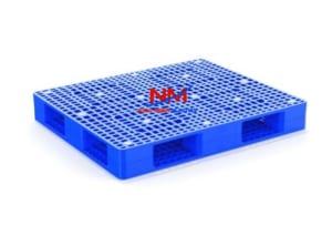 Pallet nhựa 2 mặt kích thước 1200 x 1000 x 150 tải trọng nâng 1500 kg và tải trọng tĩnh 5000 kg hàng hóa