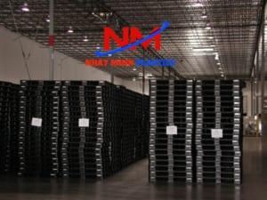 Pallet nhựa đen là pallet nhựa sử dụng phổ biến nhất cho các mặt hàng xuất khẩu