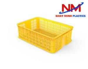 Rổ nhựa công nghiệp kích thước nhỏ 610 x 420 x 190 mm