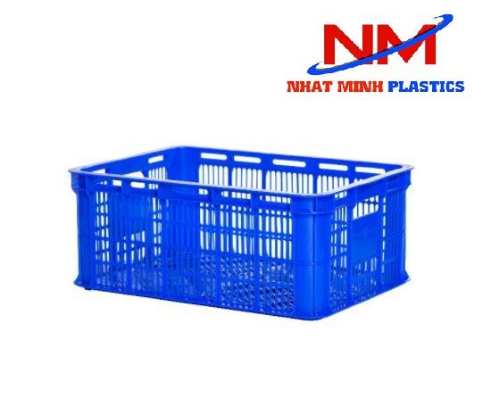 Rổ nhựa công nghiệp kích thước 626 x 424 x 210 mm