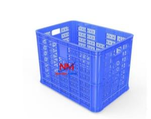 Sọt nhựa xanh kích thước lớn 626 x 424 x 390 mm