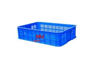 Sọt nhựa xanh kích thước nhỏ 610 x 420 x 150 mm