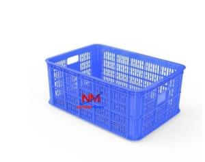 Sọt nhựa xanh kích thước trung bình 626 x 424 x 250 mm
