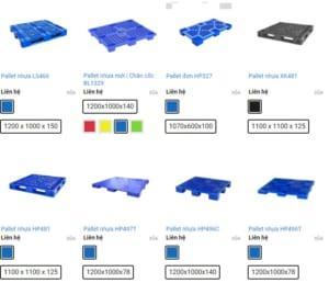 Công ty pallet nhựa tại Hà Nội Beli Group có đa dạng kích thước pallet nhựa