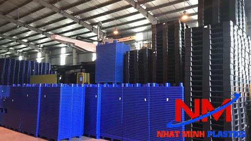 Mua pallet nhựa 1100 x 1100 x 150 mm chất lượng đảm bảo theo tiêu chuẩn quốc tế tại Nhật Minh