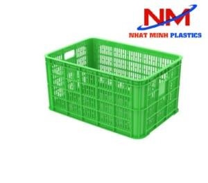 Rổ nhựa vuông lớn kích thước 610 x 420 x 310 mm