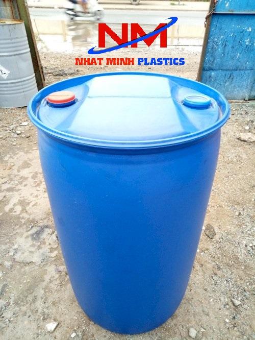 Thùng phi nhựa nắp kín hay còn gọi là thùng phi nhựa nắp nhỏ