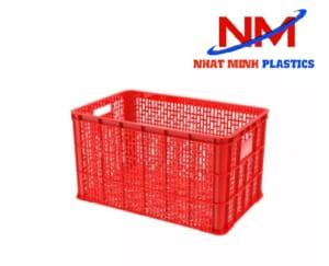 Rổ nhựa công nghiệp loại lớn kích thước 778 x 496 x 458 mm