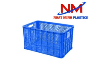 Rổ nhựa vuông công nghiệp RNM-458H kích thước 778 x 496 x 458 mm