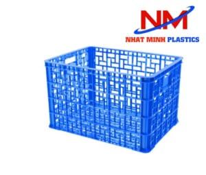 Rổ nhựa vuông chở hàng RNM-547H kích thước 840 x 622 x 547 mm