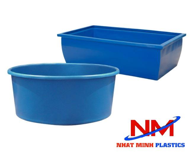 Tank nhựa 500 lít có hai loại: Tank nhựa tròn và tank nhựa vuông